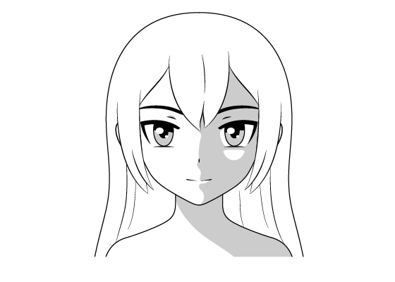 Anime face shading female
