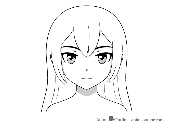 Anime face shading normal lighting