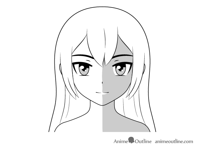 Anime face shading side lighting
