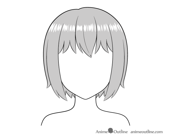 Anime hair realistic highlight