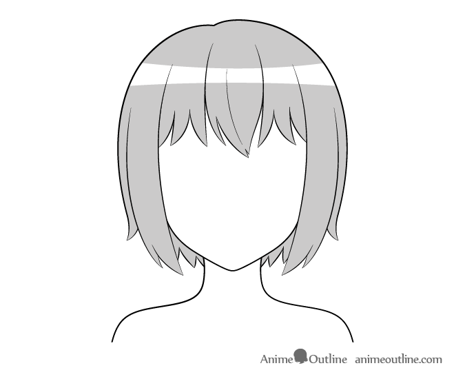 Anime hair simple highlight