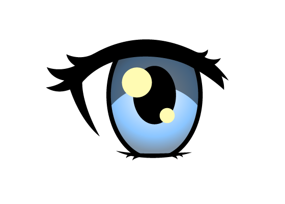 Female anime eye color