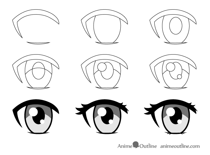 15+ Best New Drawing Easy Anime Step By Step Eyes
