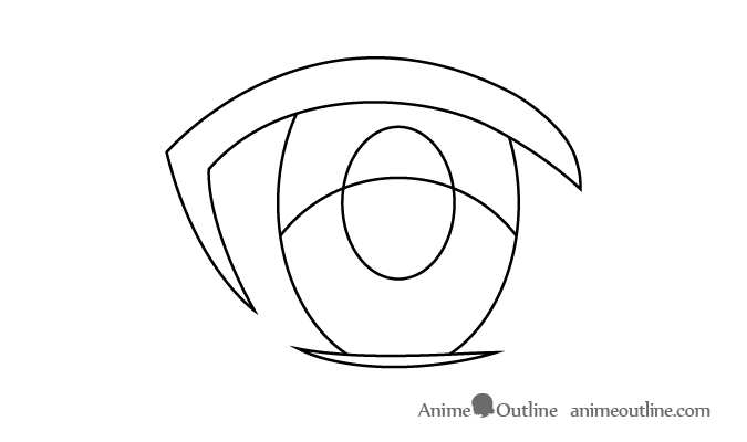 Female anime eye upper area