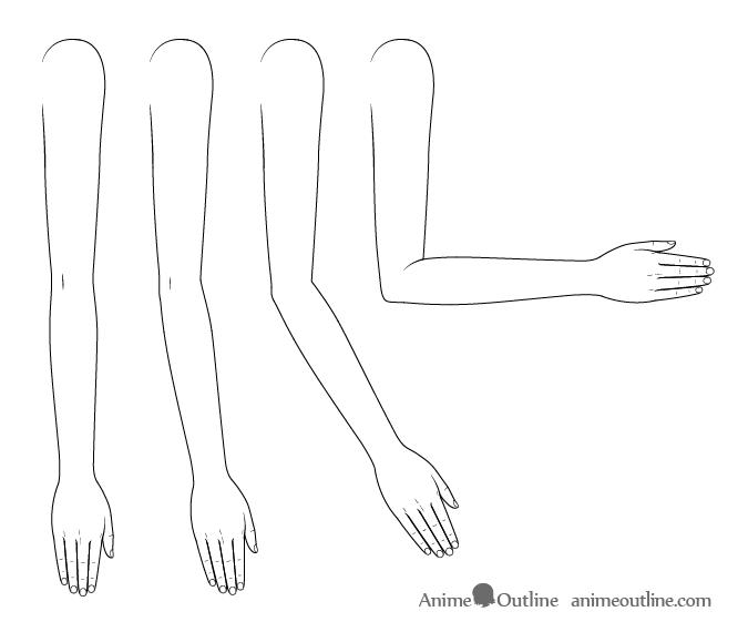 Anime arms bending drawing
