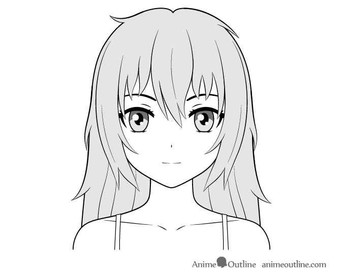 Anime yandere girl face drawing