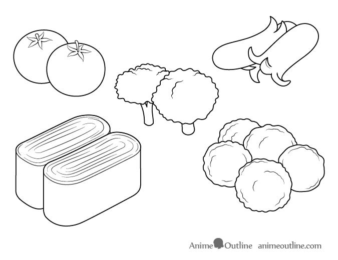 Anime food drawing