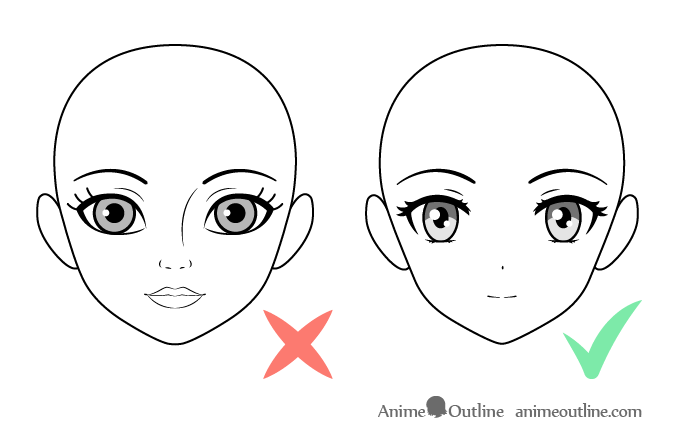 Anime face vs cartoon face drawing comparison