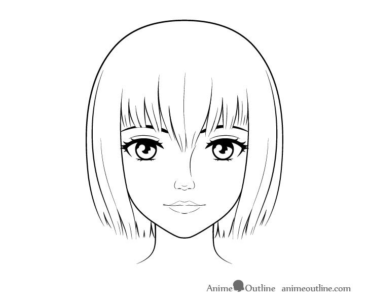 Realistic anime face drawing