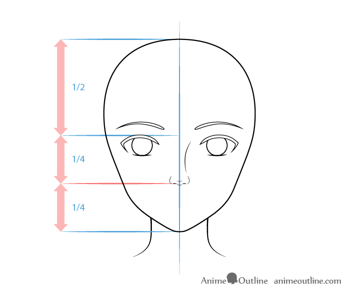 Realistic anime nose drawing
