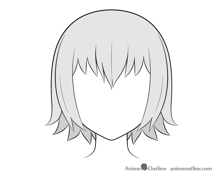 Anime dry hair drawing
