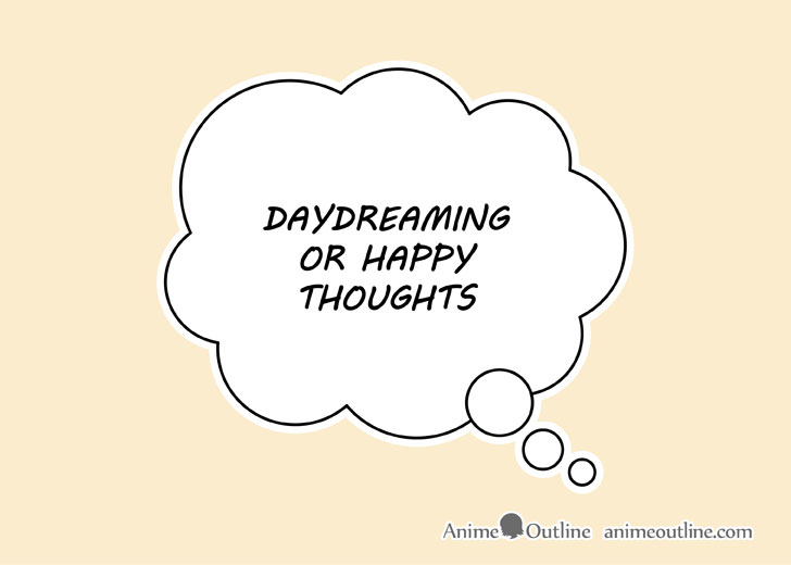 Manga daydreaming bubble