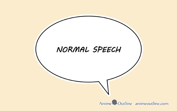 Manga normal speech bubble