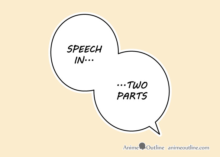 Manga split speech bubble