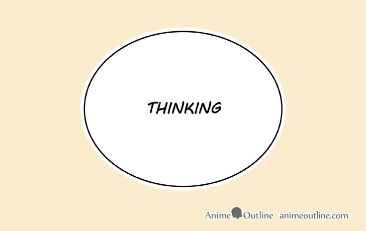 Manga thinking bubble