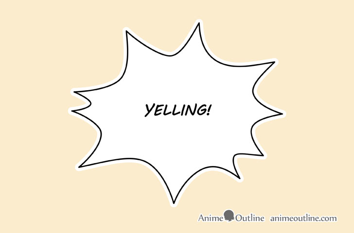 Manga yelling bubble