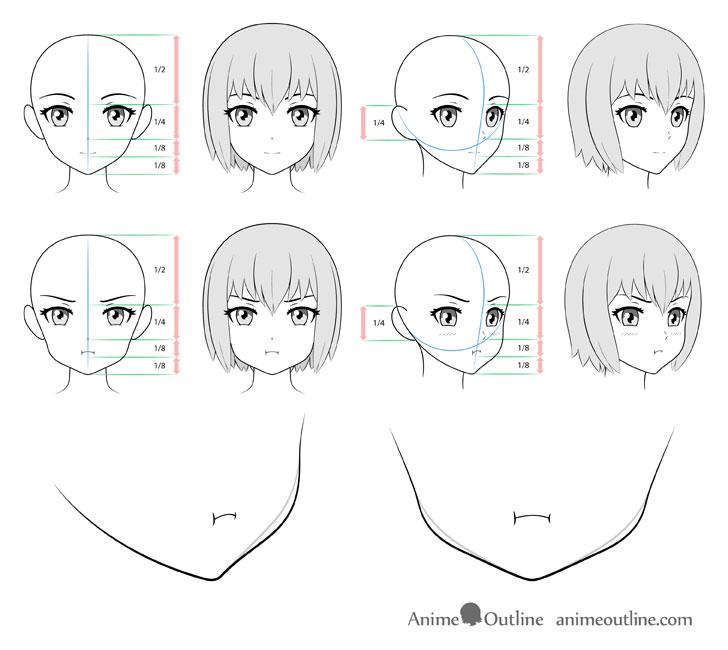 How To Draw Anime Pouting Face Tutorial Animeoutline
