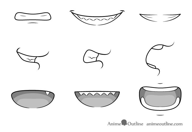 Anime teeth drawing