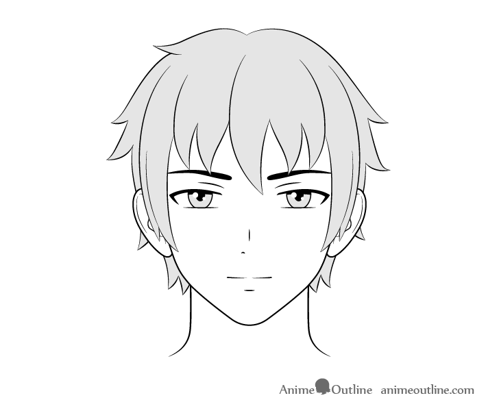 Anime guy face drawing