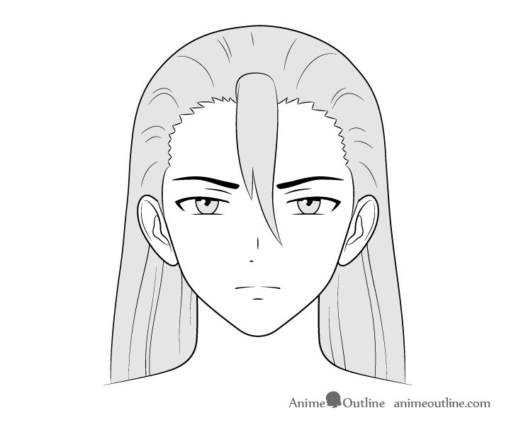 Anime villain guy face drawing