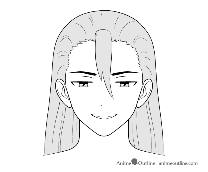 Anime villain guy scheming face drawing