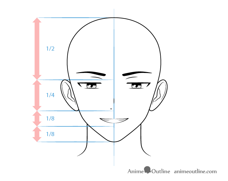 Anime villain male character scheming face drawing