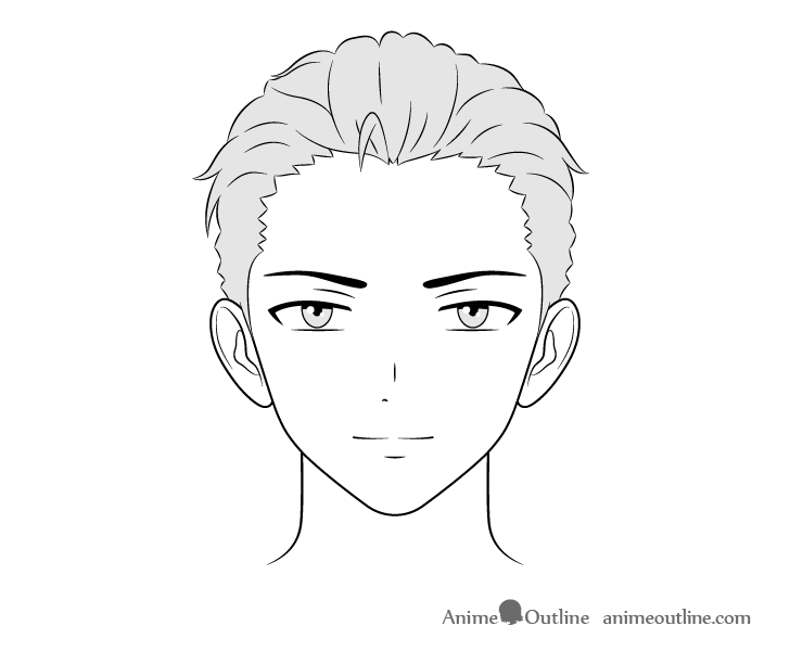 Anime wealthy guy face drawing