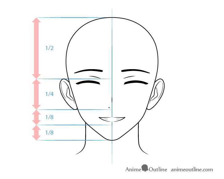 Anime wealthy male character smiling face drawing