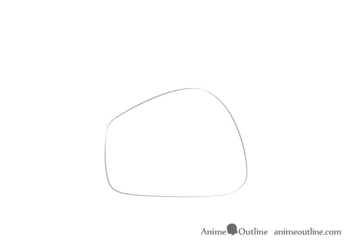 Dibujo de la palma de la mano señalando con el dedo