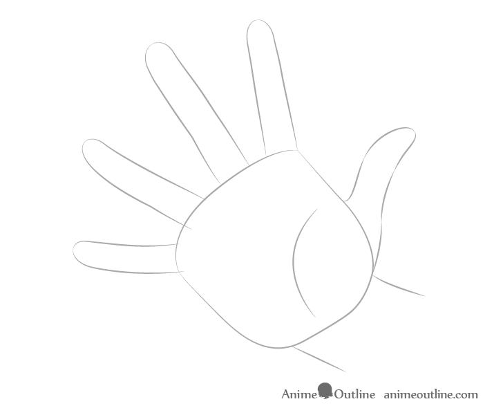 Dibujo de dedos de fundición a mano
