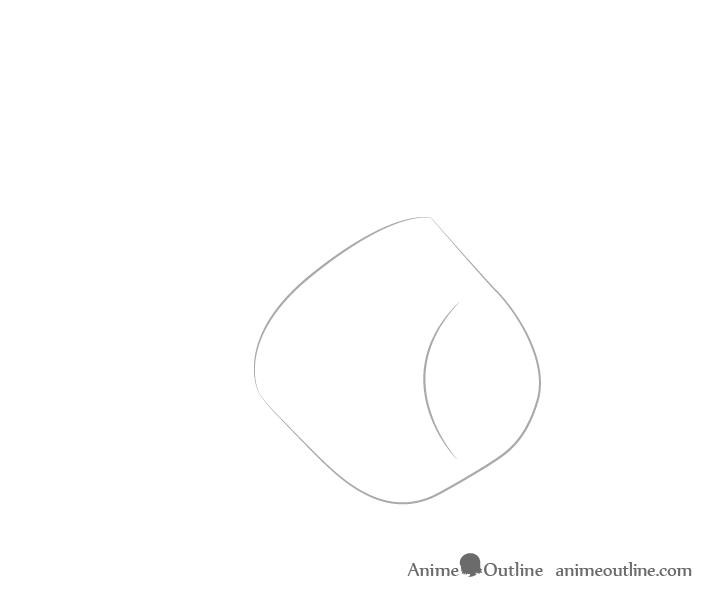 Dibujo de palma de fundición a mano