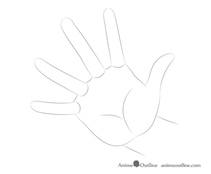Dibujo de forma de fundición a mano
