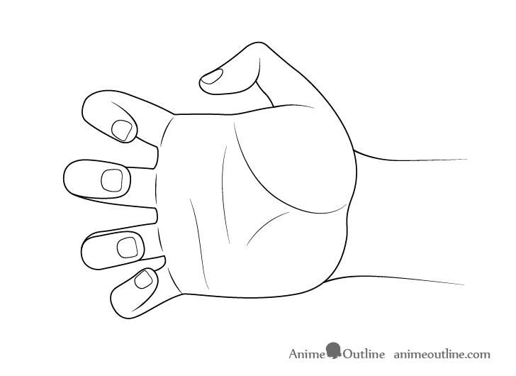 Dibujo de garra de mano