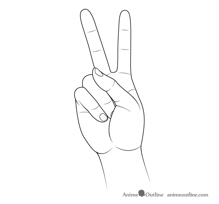 Dibujo de signo de la paz a mano