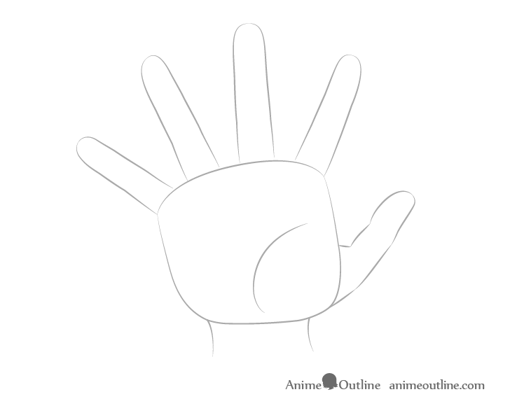 Hand reaching fingers drawing