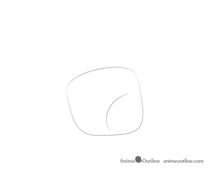 Dibujo de palma de mano alcanzando