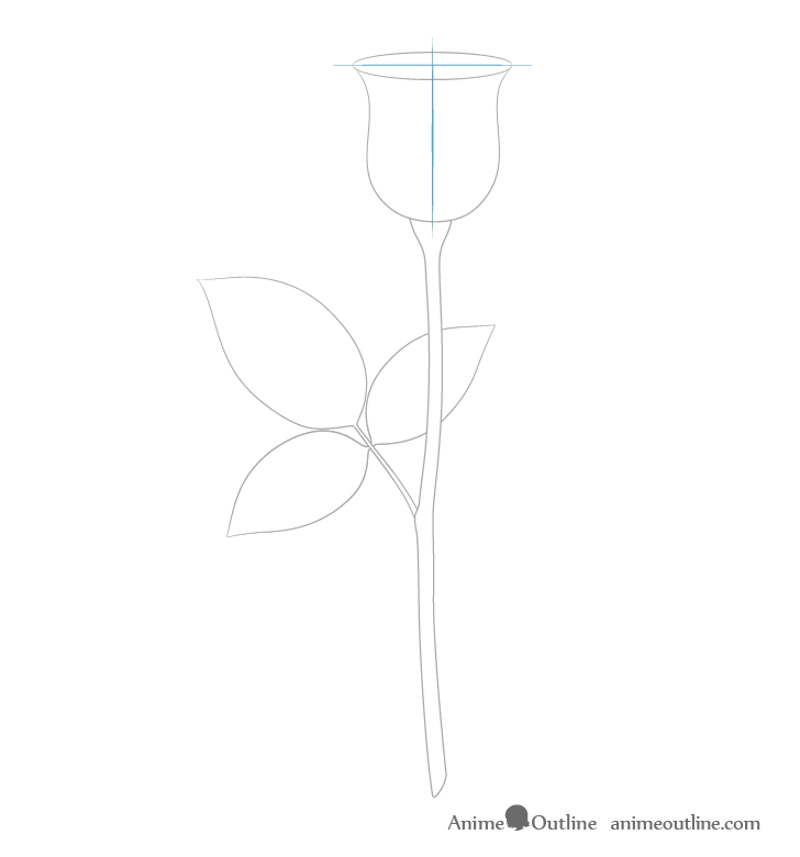 How to Draw a Rose Step by Step - AnimeOutline