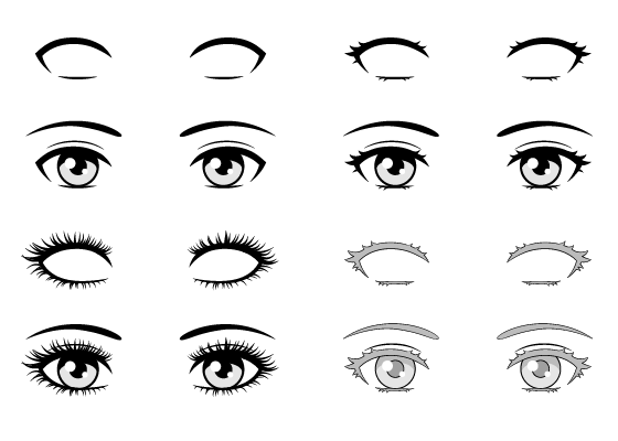 Anime eyelashes
