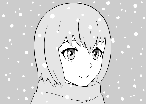 Anime girl snow