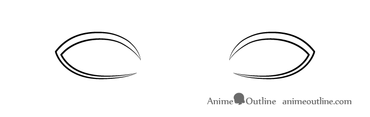 Anime realistic eyelashes line drawing