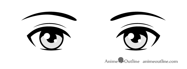 Anime simple eyes drawing
