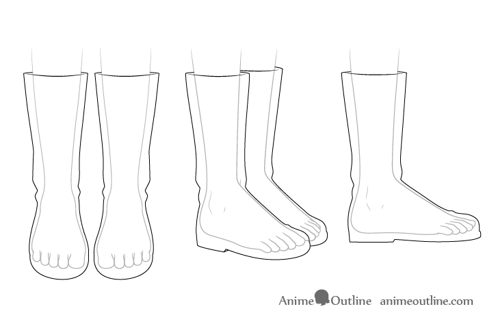 Anime boots see through drawing