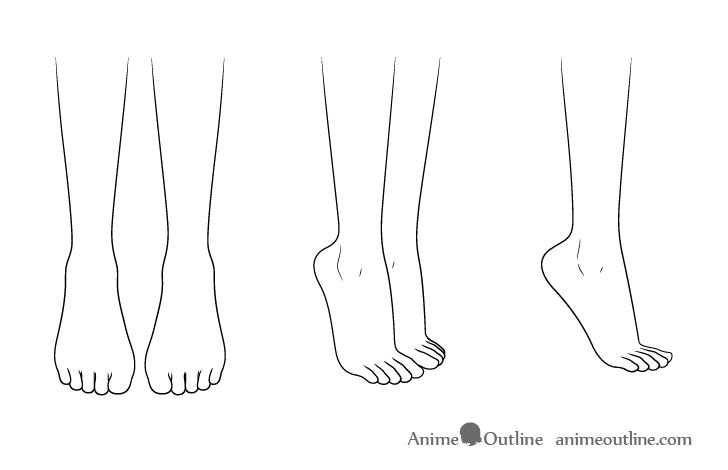 Anime high heel shoes feet drawing