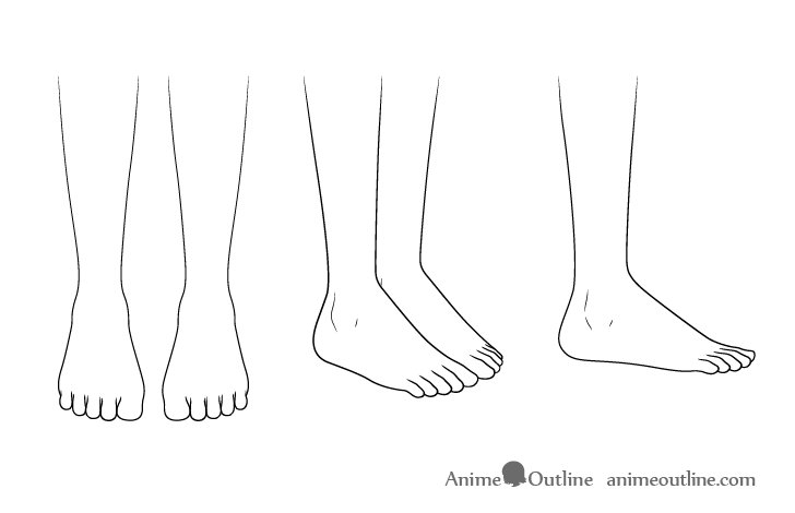 Anime school shoes feet drawing