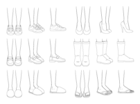 How to Draw Anime Shoes Step by Step