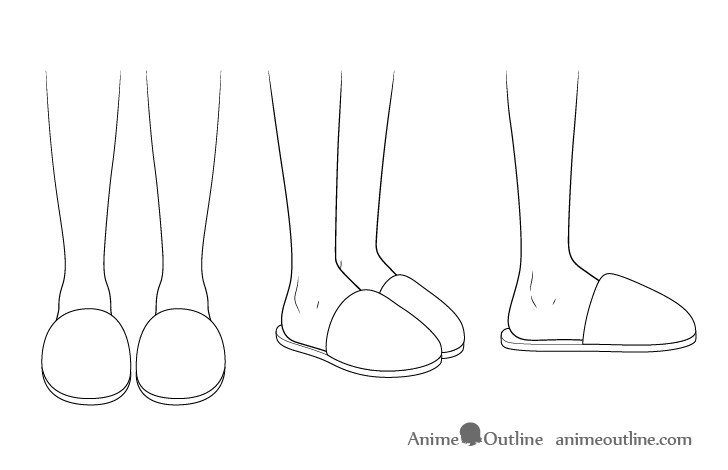 Anime slippers drawing