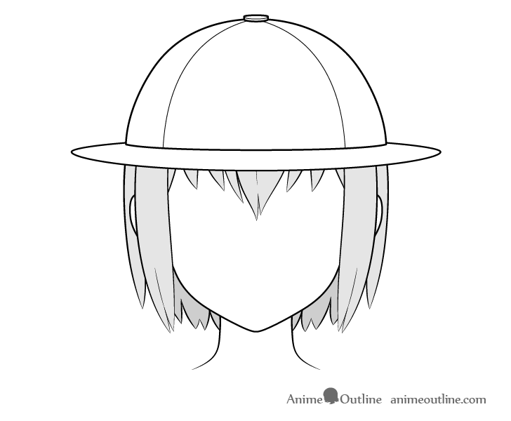 Anime explorer hat drawing