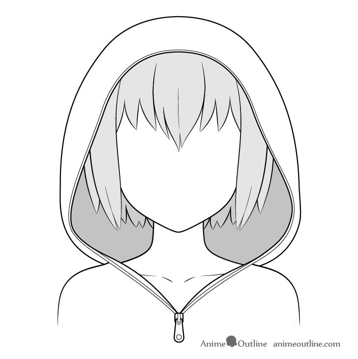 Anime hoodie drawing