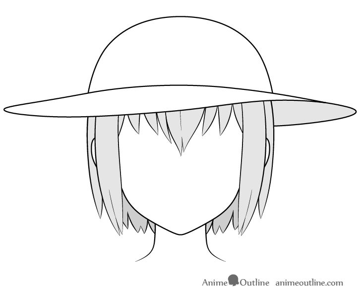 Anime sun hat drawing