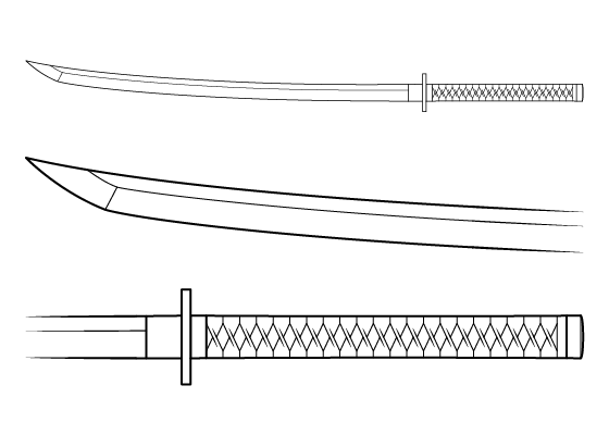 Anime katana drawing